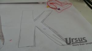 Schablone Buchstaben