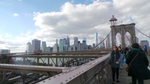Brooklyn Bridge und Skyline