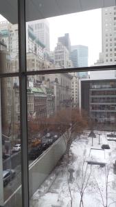 Der Blick aus dem Fenster.